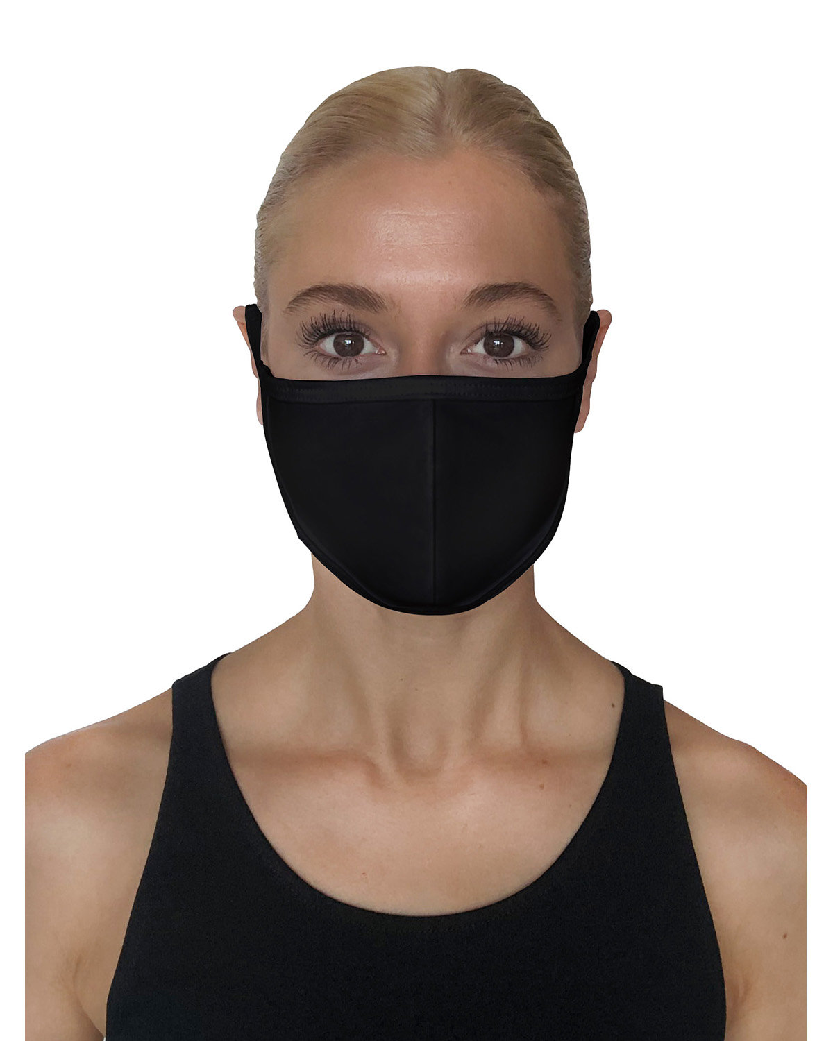 StarTee Drop Ship Unisex Premium Fitted Face Mask BLACK