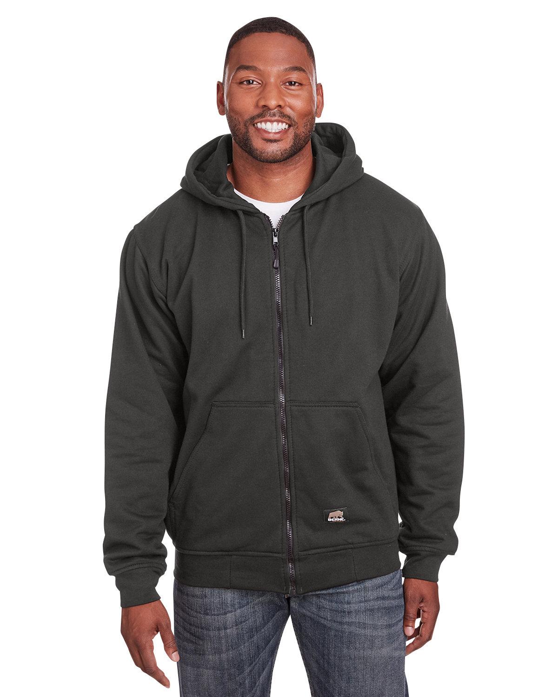Berne Men's Tall Heritage Thermal-Lined Full-Zip Hooded Sweatshirt CHARCOAL