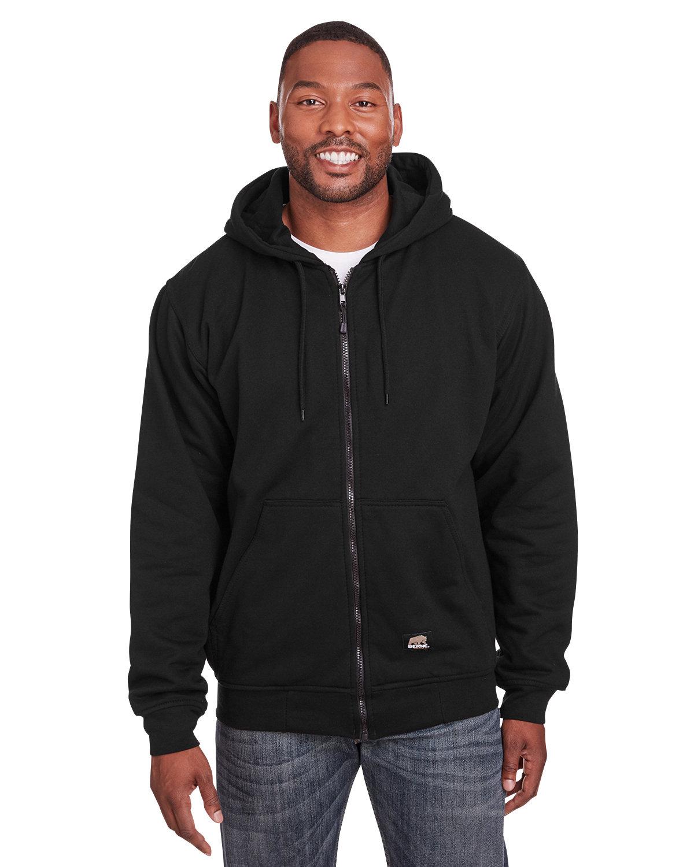 Berne Men's Tall Heritage Thermal-Lined Full-Zip Hooded Sweatshirt BLACK