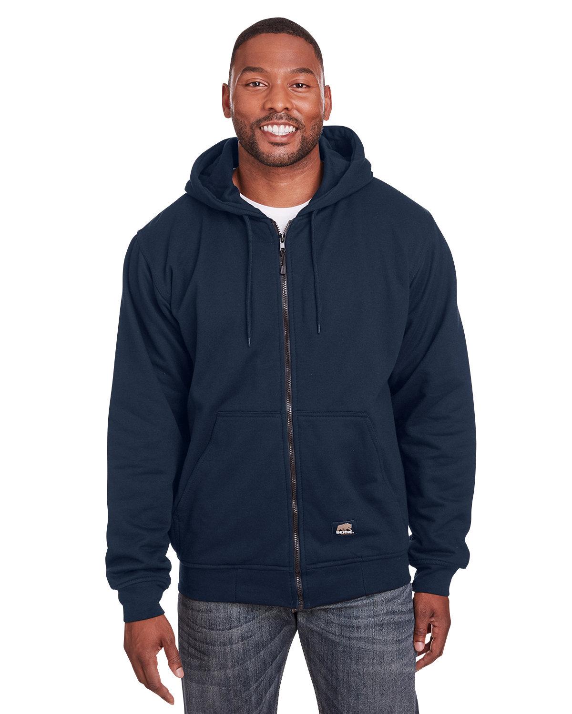Berne Men's Tall Heritage Thermal-Lined Full-Zip Hooded Sweatshirt NAVY