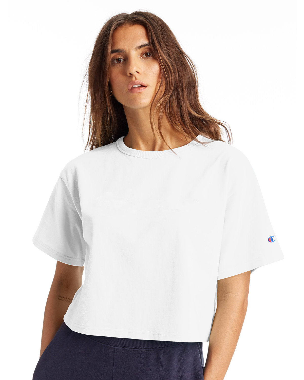 Champion Ladies' Cropped Heritage T-Shirt WHITE
