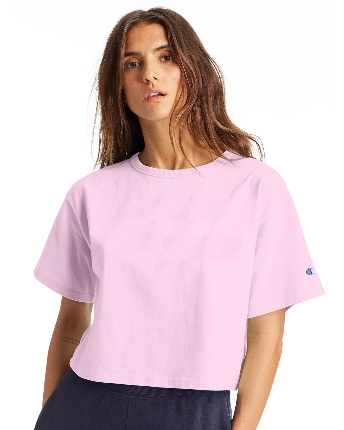 Champion Ladies' Cropped Heritage T-Shirt PINK CANDY