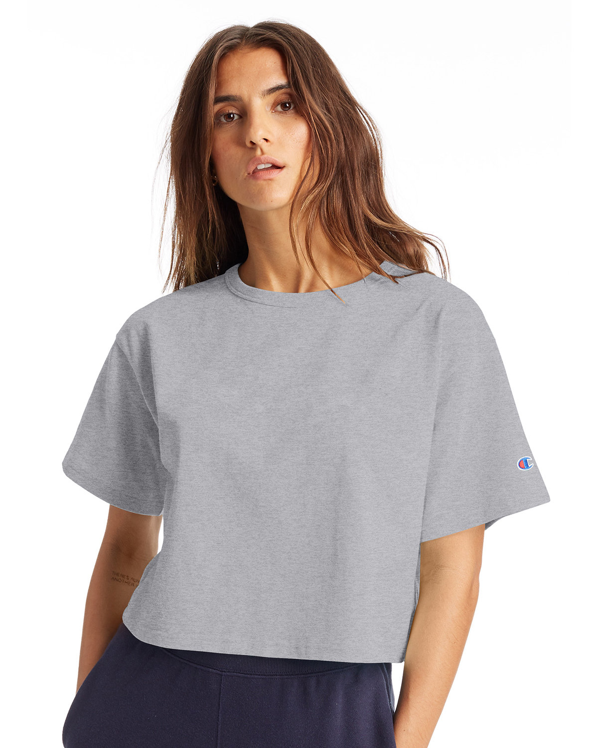 Champion Ladies' Cropped Heritage T-Shirt OXFORD GRAY