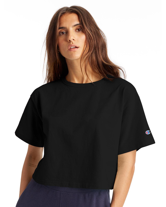 Champion Ladies' Cropped Heritage T-Shirt BLACK