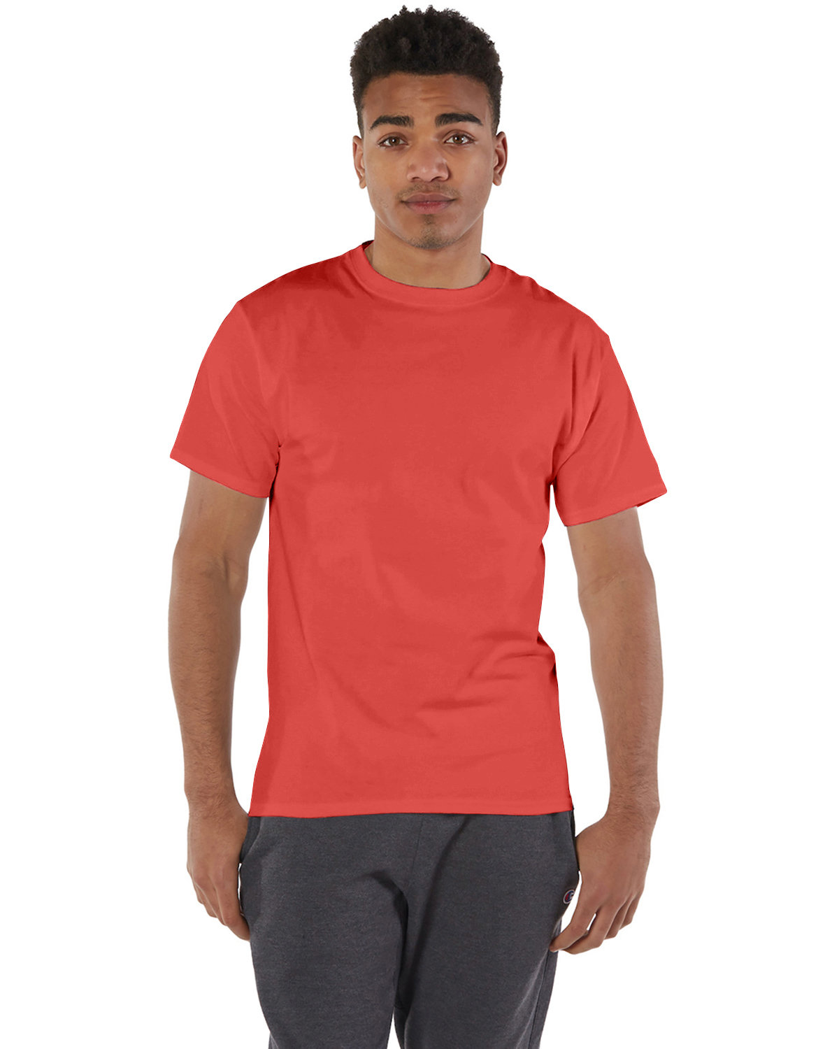 Champion Adult 6 oz. Short-Sleeve T-Shirt RED RIVER CLAY