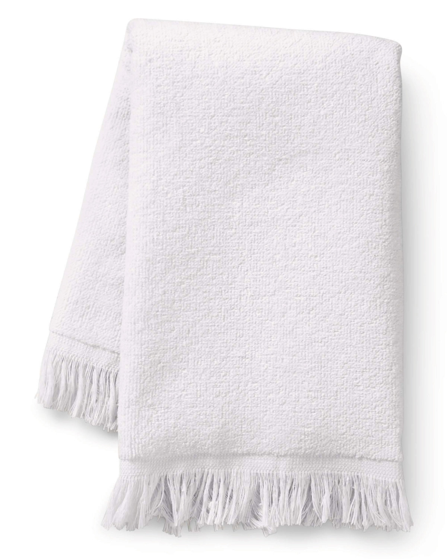 Towels Plus Fringed Fingertip Towel WHITE