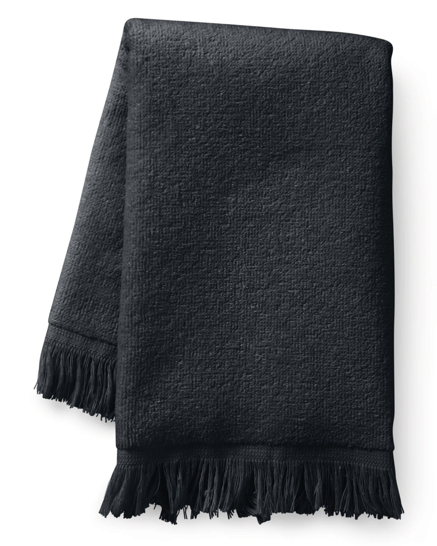 Towels Plus Fringed Fingertip Towel BLACK
