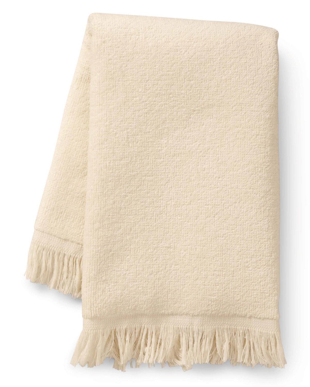 Towels Plus Fringed Fingertip Towel VANILLA