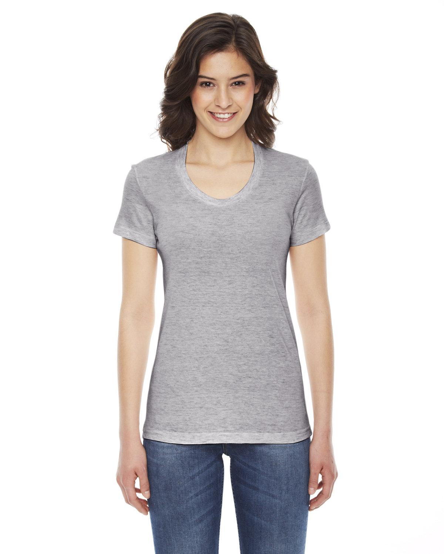 American Apparel Ladies' Triblend Short-Sleeve Track T-Shirt ATHLETIC GREY