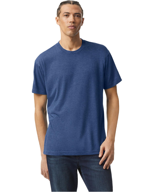 American Apparel Unisex Triblend USA Made Short-Sleeve Track T-Shirt TRI INDIGO