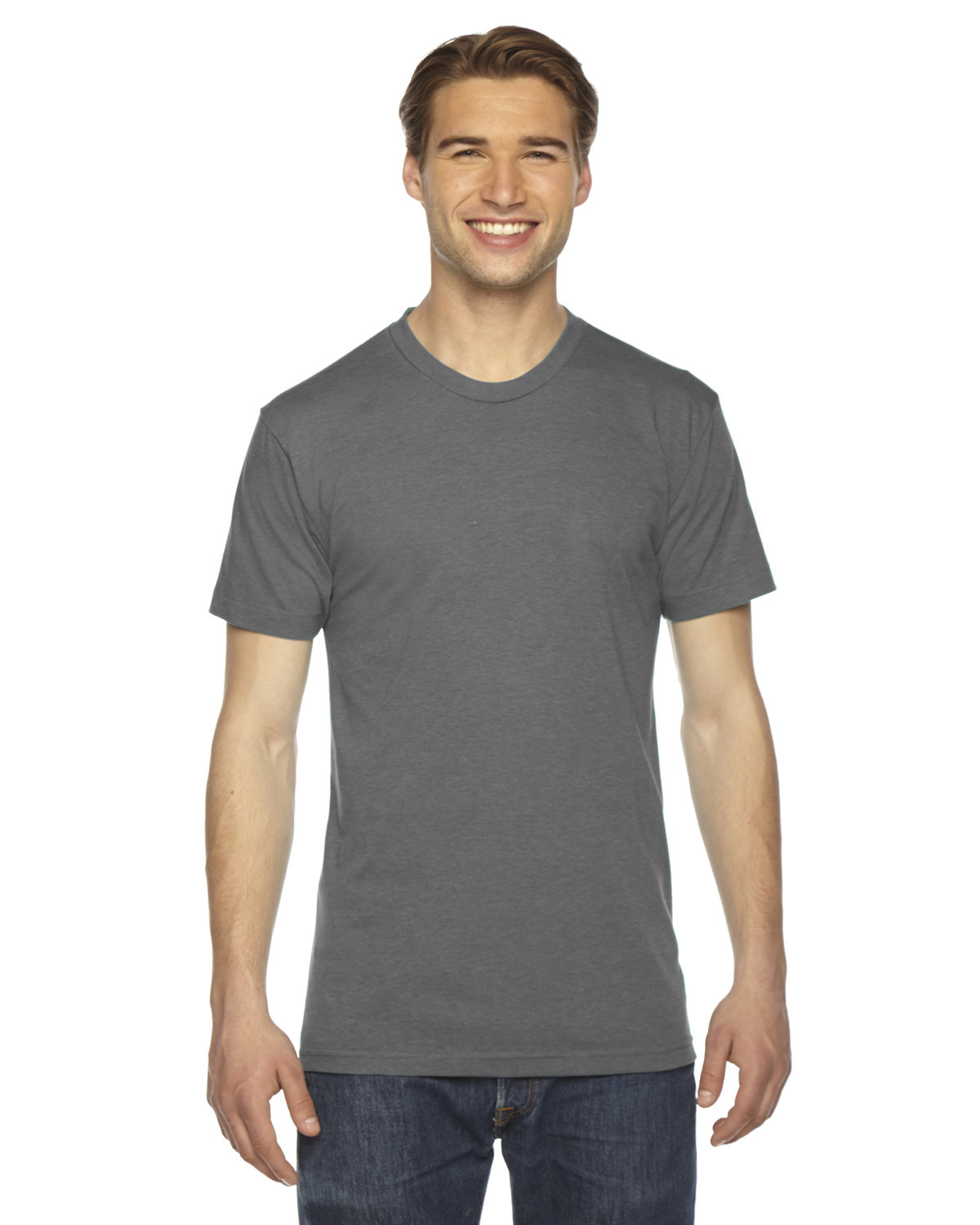 American Apparel Unisex Triblend USA Made Short-Sleeve Track T-Shirt ATHLETIC GREY