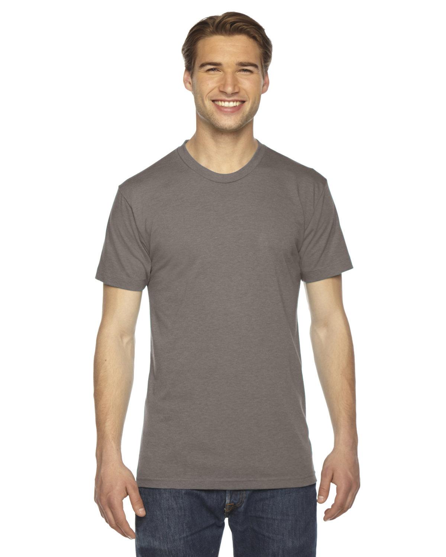 American Apparel Unisex Triblend USA Made Short-Sleeve Track T-Shirt TRI COFFEE