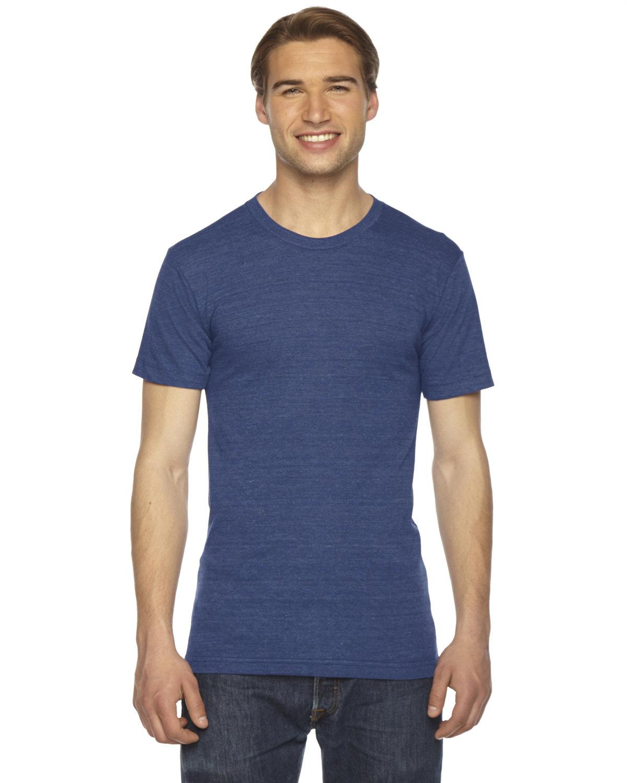 American Apparel Unisex Triblend Short-Sleeve Track T-Shirt TRI INDIGO