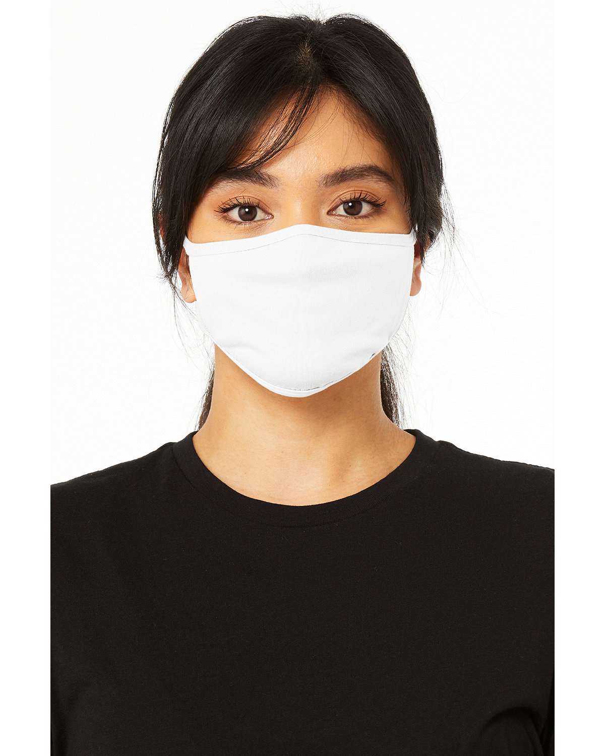 Bella + Canvas Adult 2-Ply Reusable Face Mask SOLID WHITE BLND
