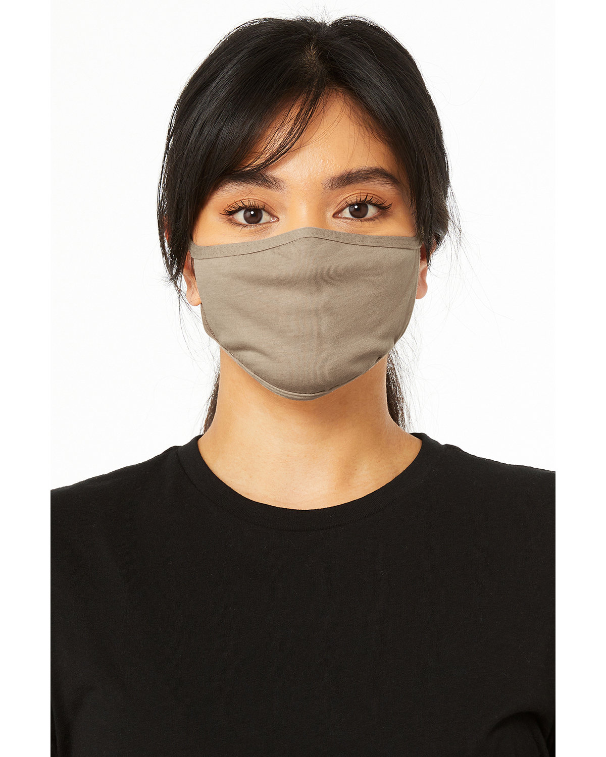 Bella + Canvas Adult 2-Ply Reusable Face Mask HEATHER TAN