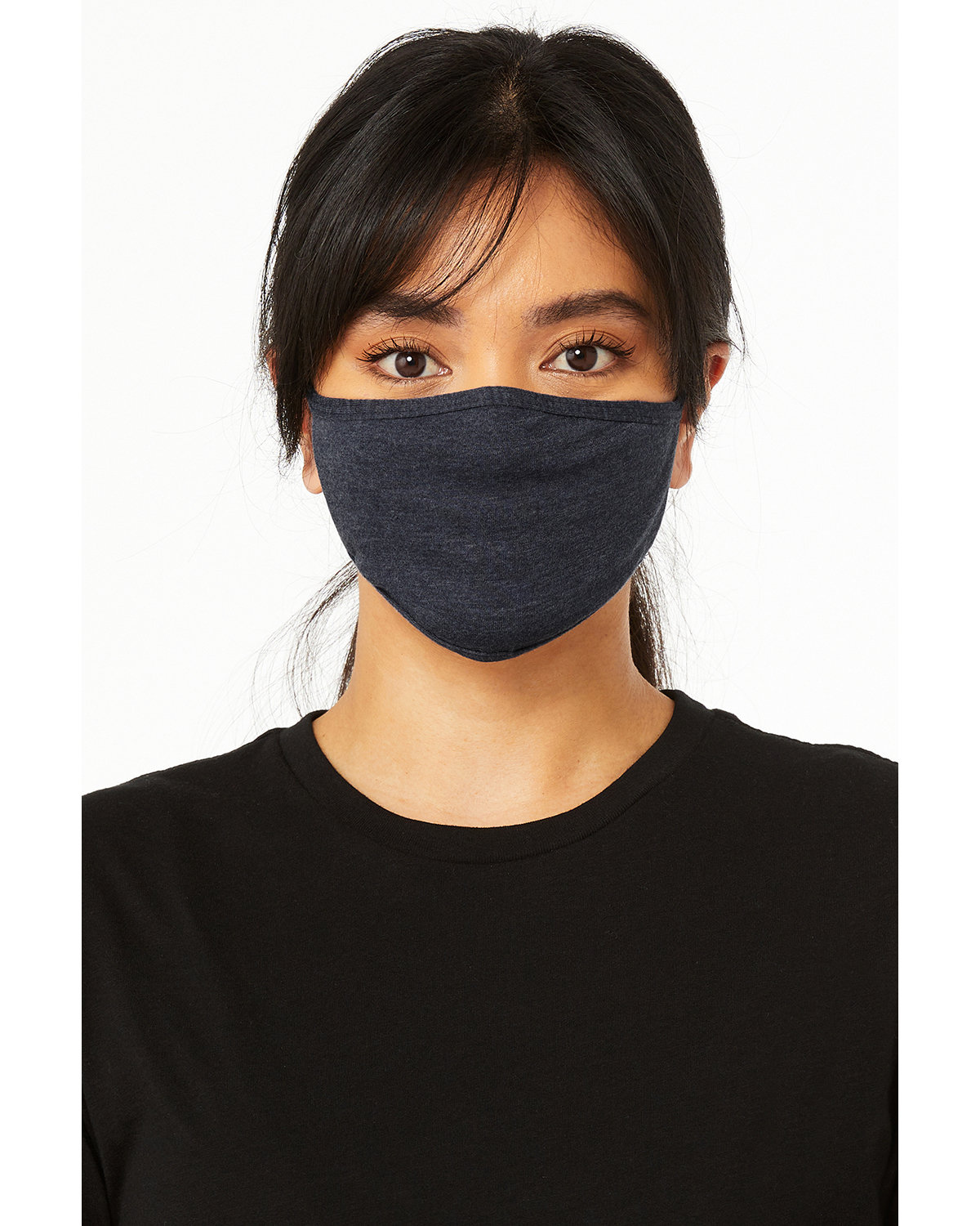 Bella + Canvas Adult 2-Ply Reusable Face Mask HEATHER NAVY