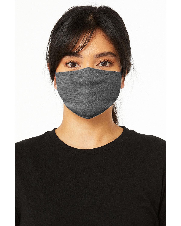 Bella + Canvas Adult 2-Ply Reusable Face Mask DEEP HEATHER