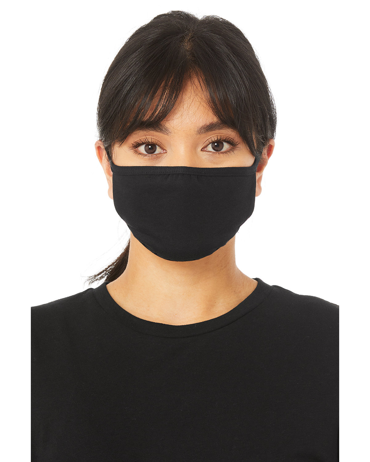 Bella + Canvas Adult 2-Ply Reusable Face Mask BLACK
