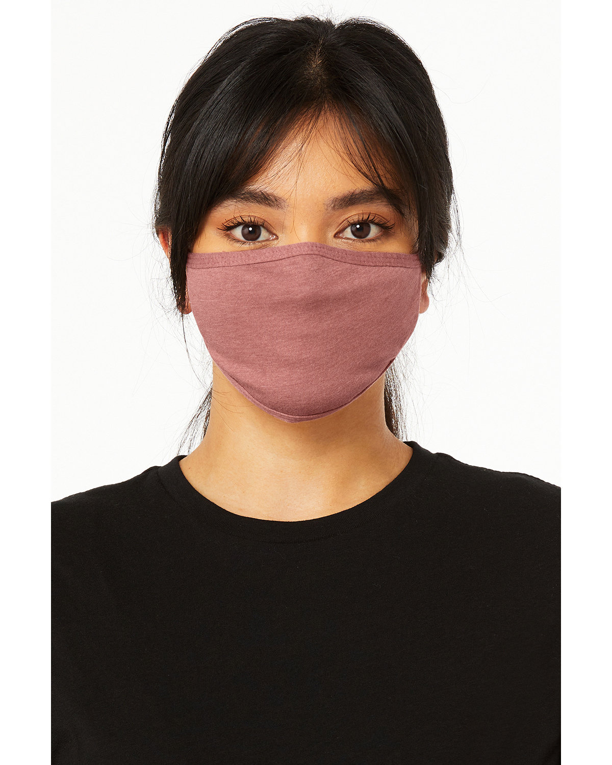 Bella + Canvas Adult 2-Ply Reusable Face Mask HEATHER MAUVE