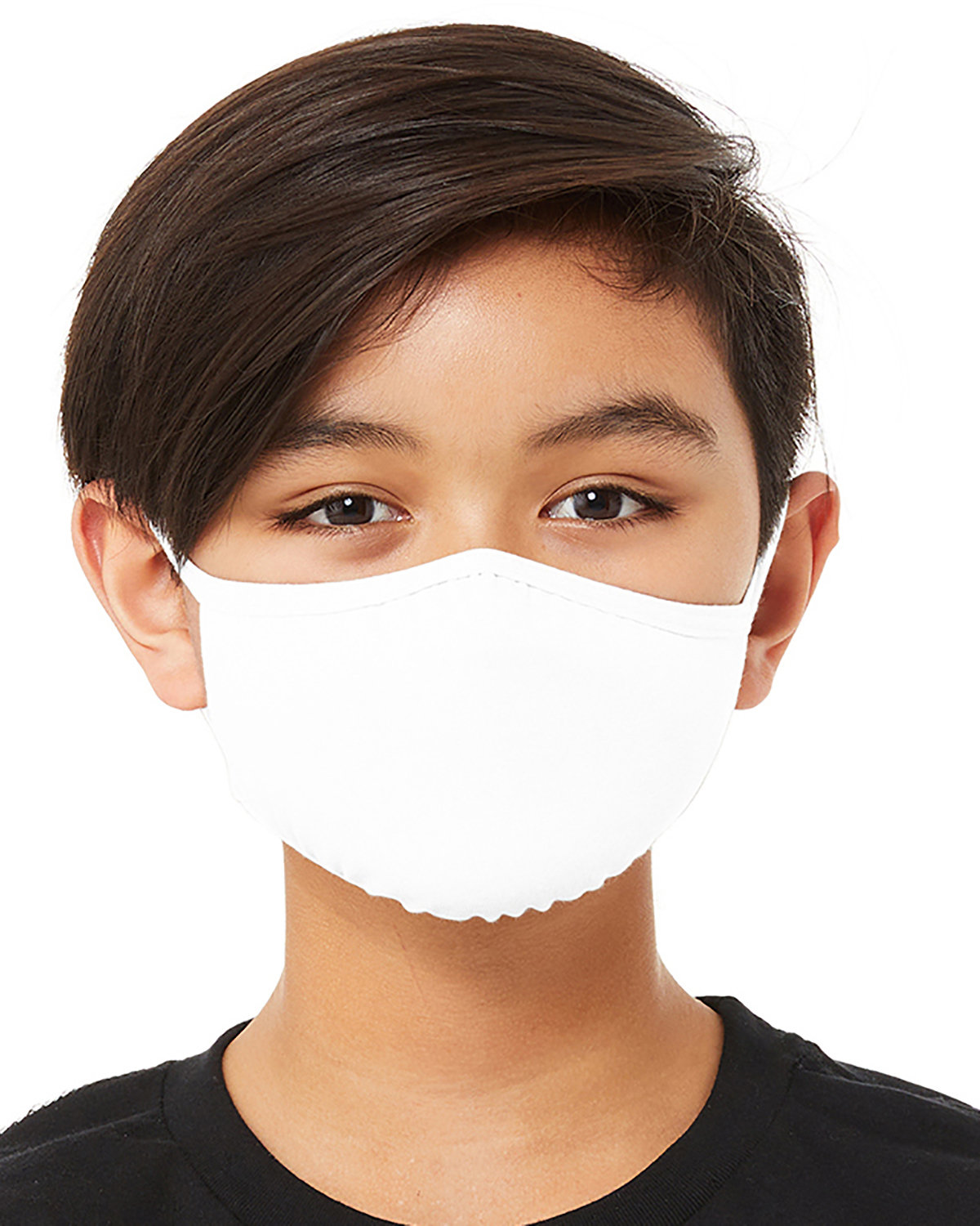 Bella + Canvas Youth 2-Ply Reusable Face Mask SOLID WHITE BLND