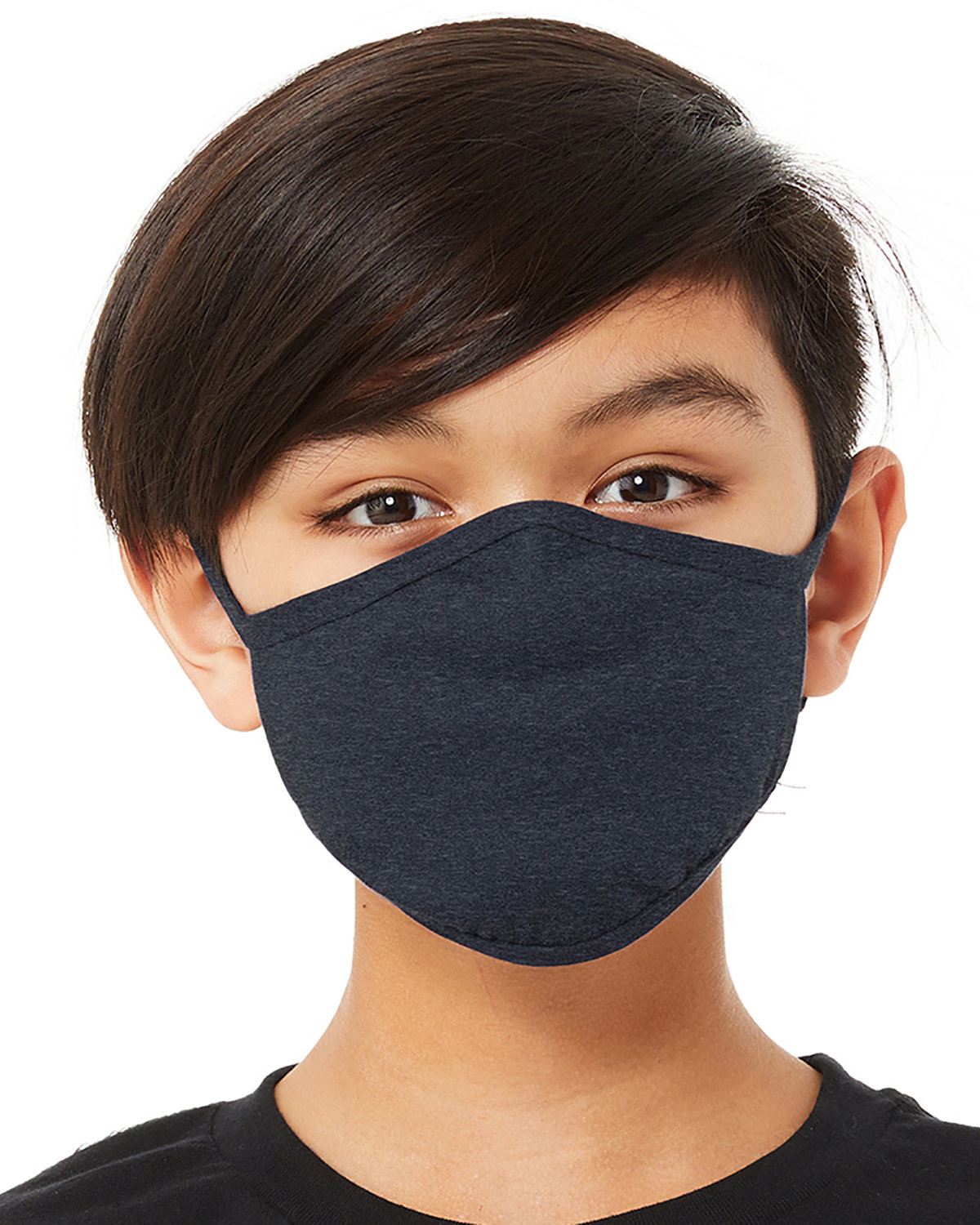 Bella + Canvas Youth 2-Ply Reusable Face Mask HEATHER NAVY