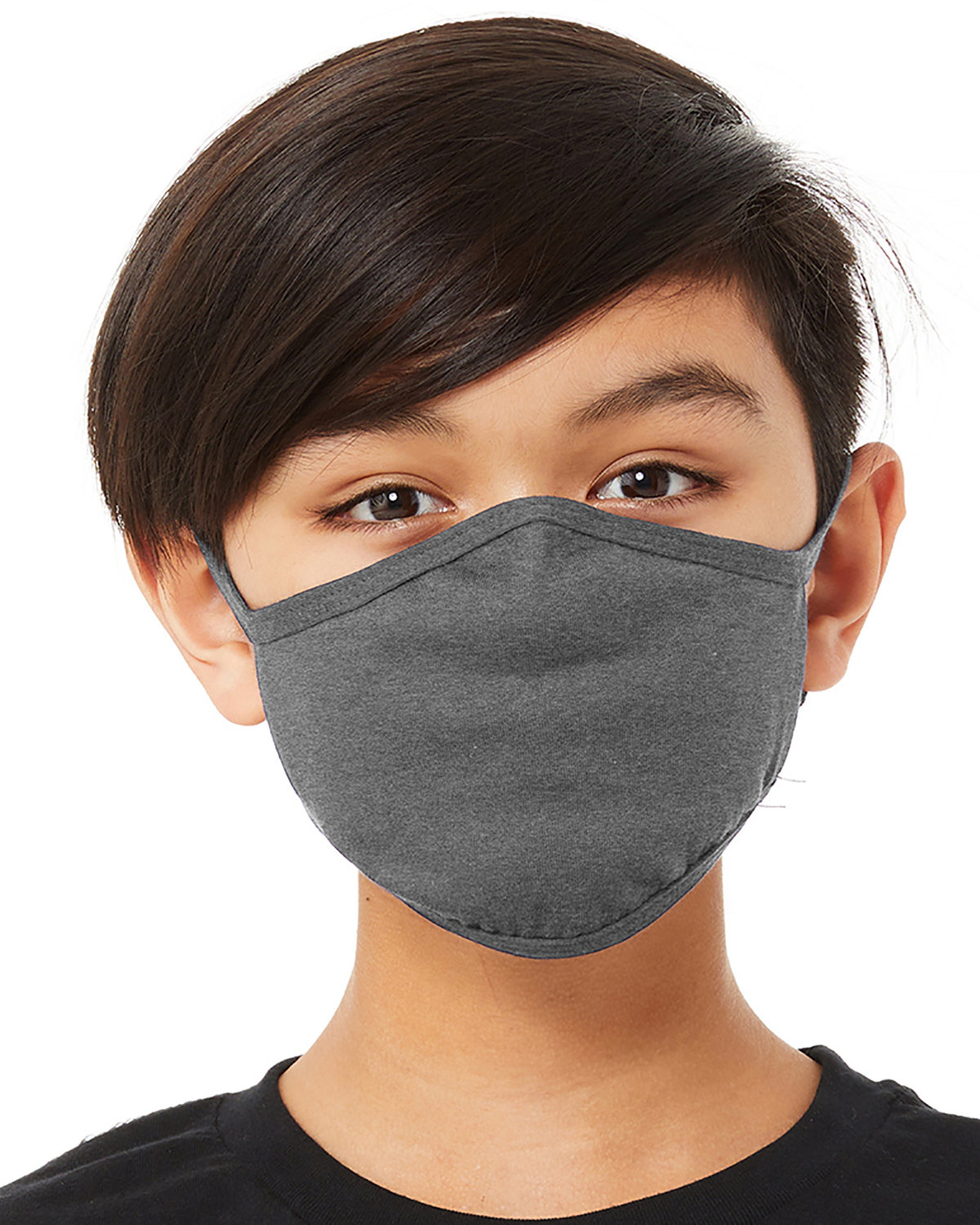 Bella + Canvas Youth 2-Ply Reusable Face Mask DEEP HEATHER