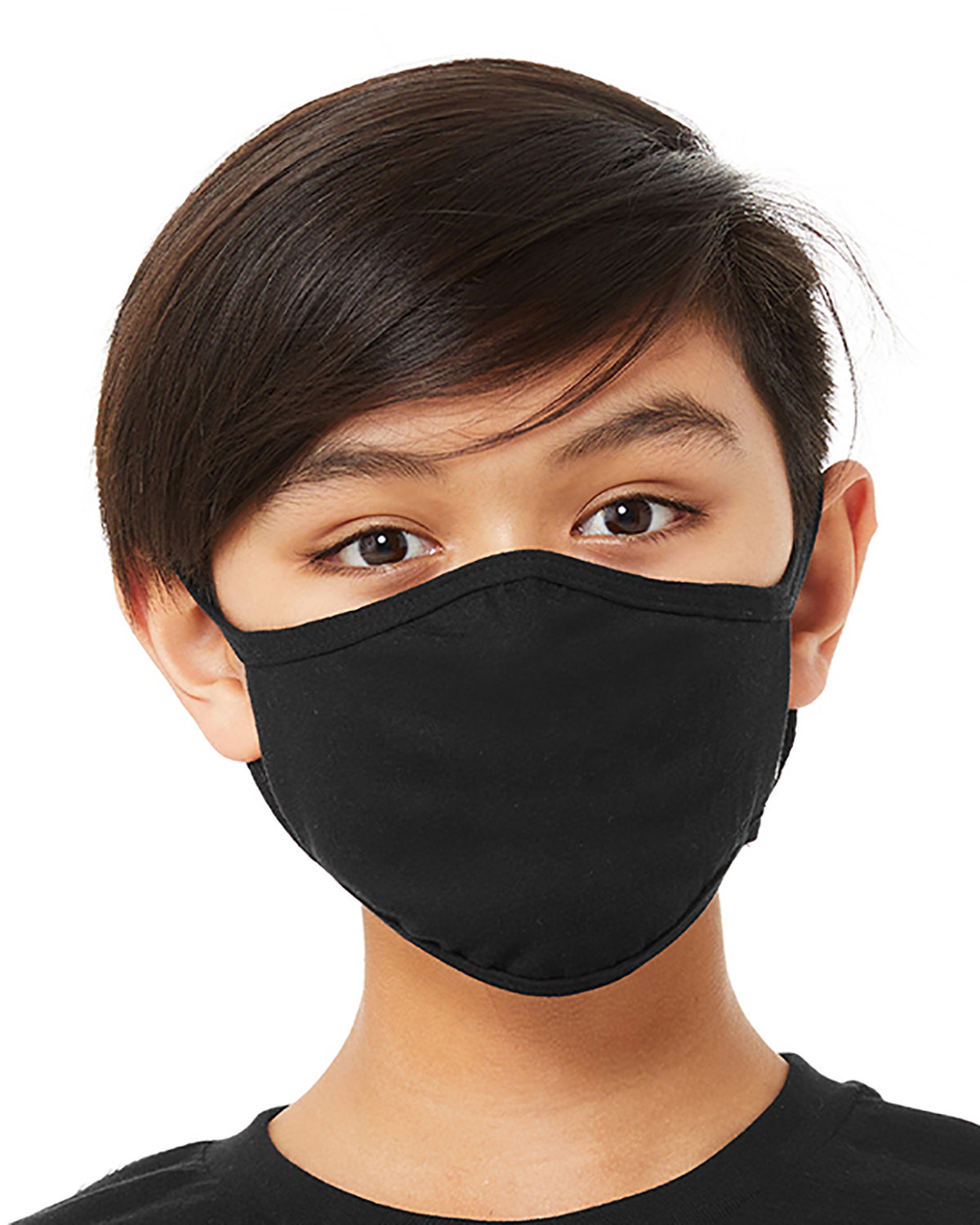 Bella + Canvas Youth 2-Ply Reusable Face Mask BLACK