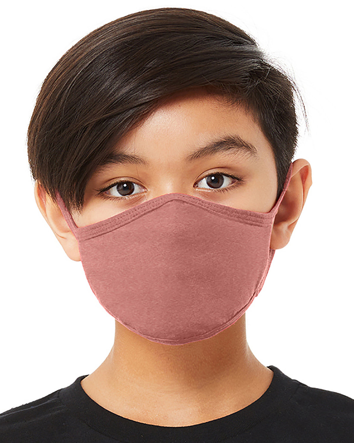 Bella + Canvas Youth 2-Ply Reusable Face Mask HEATHER MAUVE