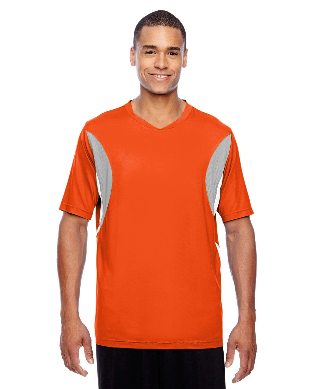 Team 365 Men's Short-Sleeve Athletic V-Neck Tournament Jersey SP ORANGE/ SP SL