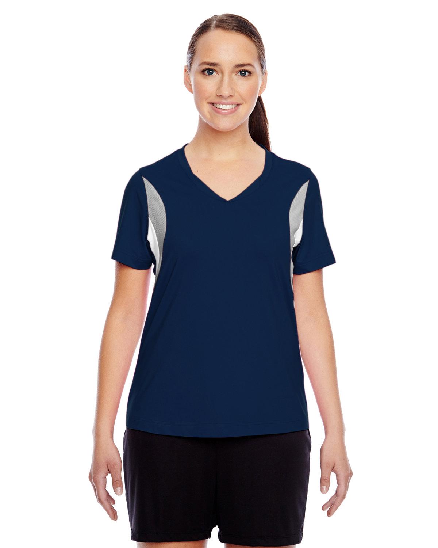 Team 365 Ladies' Short-Sleeve Athletic V-Neck Tournament Jersey SP DK NVY/ SP SL
