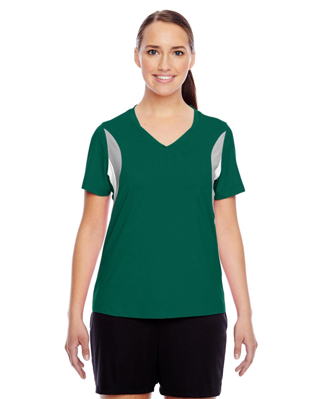 Team 365 Ladies' Short-Sleeve Athletic V-Neck Tournament Jersey SP FOREST/ SP SL