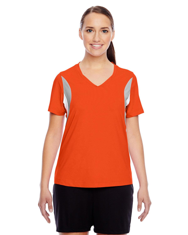 Team 365 Ladies' Short-Sleeve Athletic V-Neck Tournament Jersey SP ORANGE/ SP SL