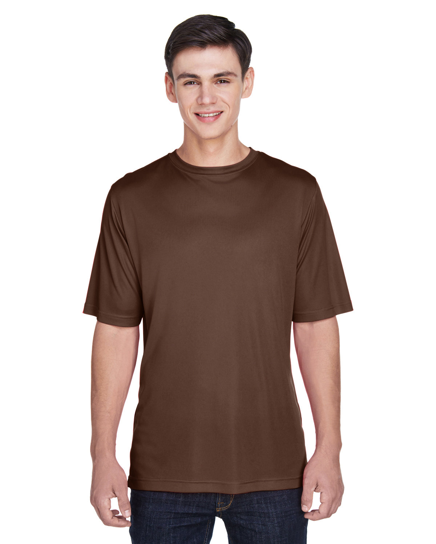 Team 365 Men's Zone Performance T-Shirt SPORT DARK BROWN
