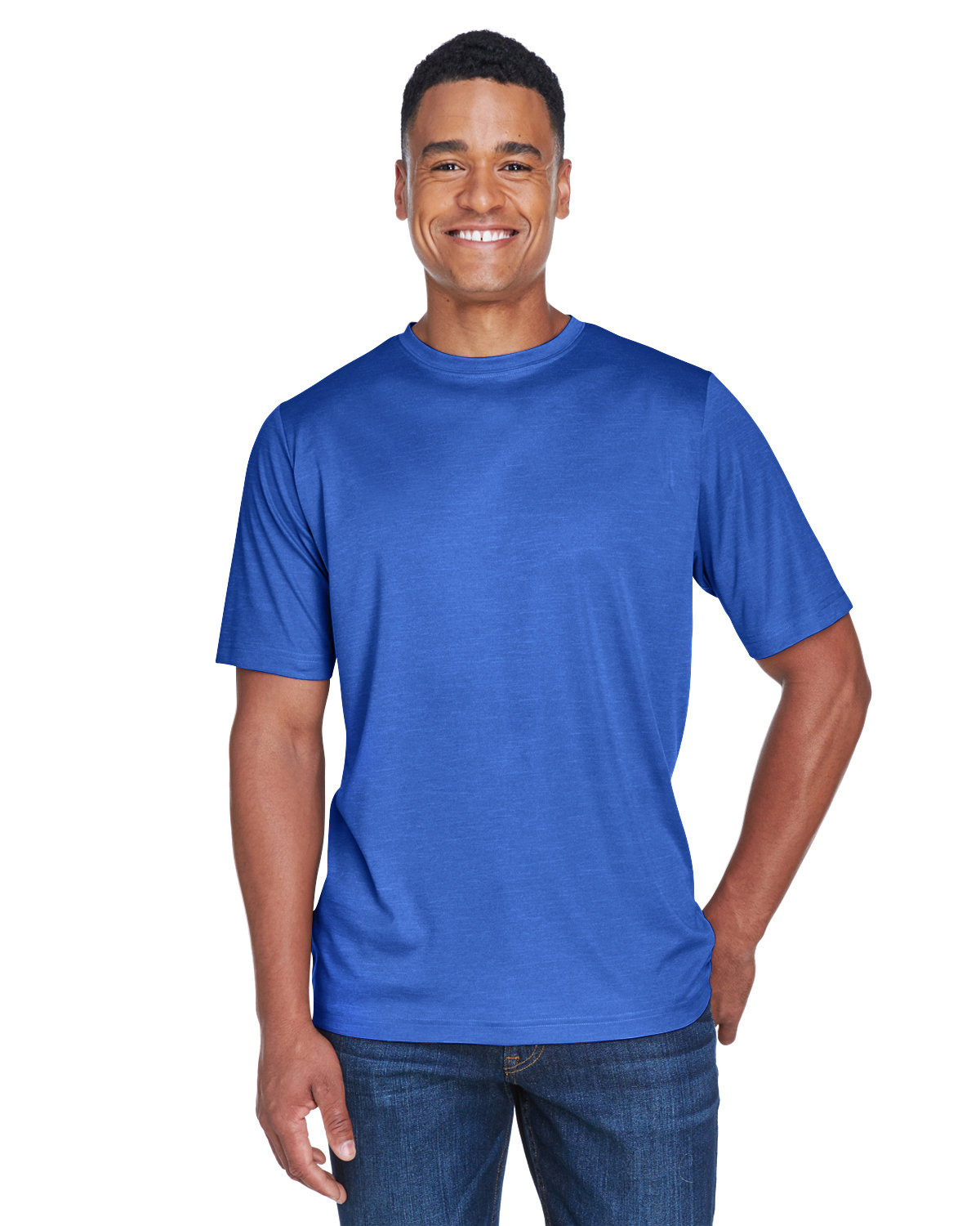 Team 365 Men's Sonic Heather Performance T-Shirt SP ROYAL HEATHER