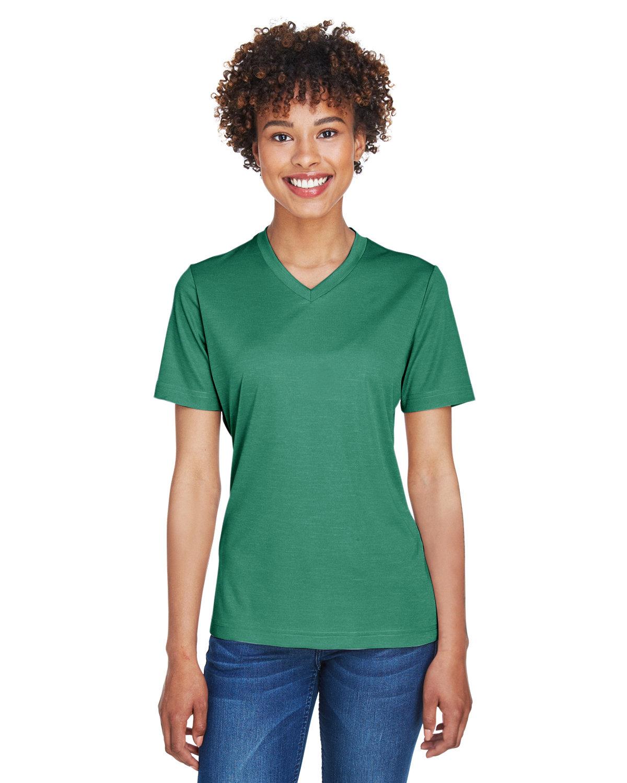 Team 365 Ladies' Sonic Heather Performance T-Shirt SP FOREST HTHR