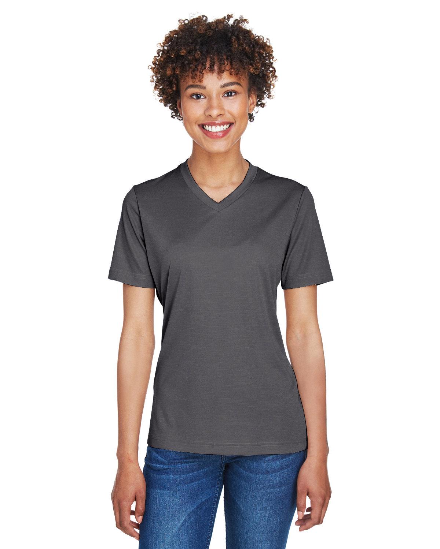 Team 365 Ladies' Sonic Heather Performance T-Shirt DK GREY HEATHER