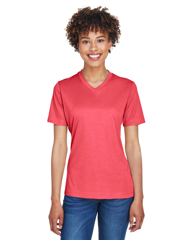 Team 365 Ladies' Sonic Heather Performance T-Shirt SP RED HEATHER