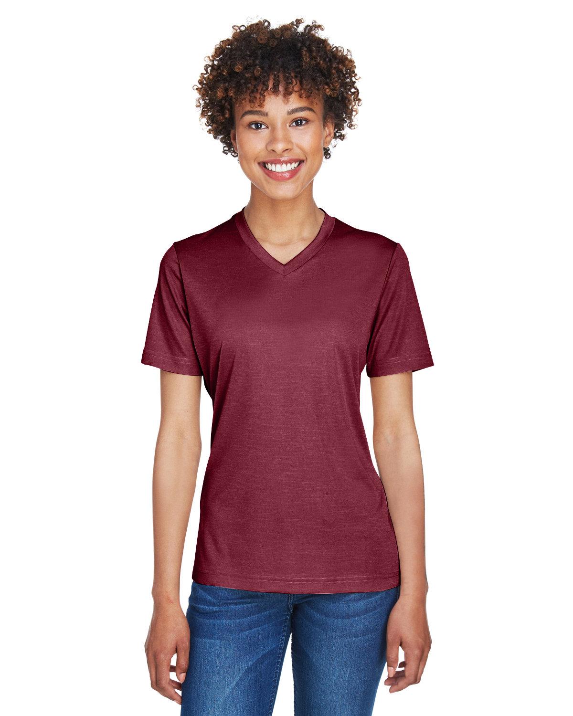 Team 365 Ladies' Sonic Heather Performance T-Shirt SP MAROON HTHR