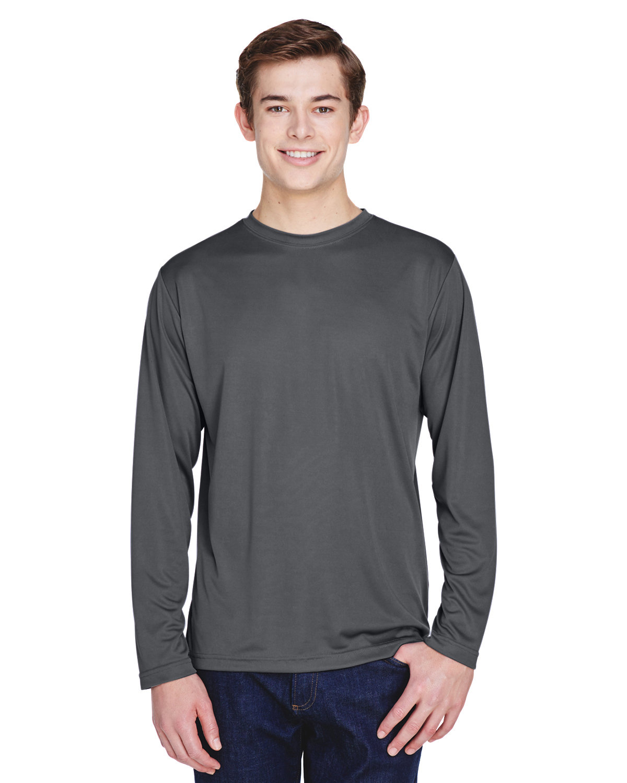 Team 365 Men's Zone Performance Long-Sleeve T-Shirt SPORT GRAPHITE