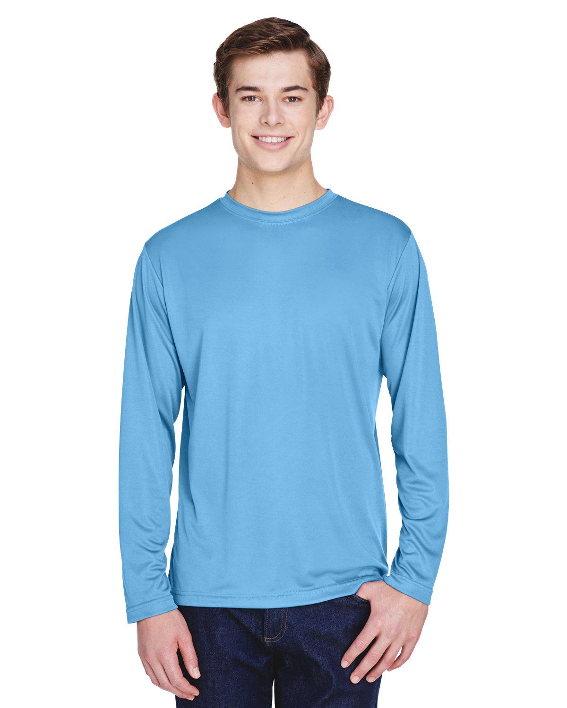 Team 365 Men's Zone Performance Long-Sleeve T-Shirt SPORT LIGHT BLUE