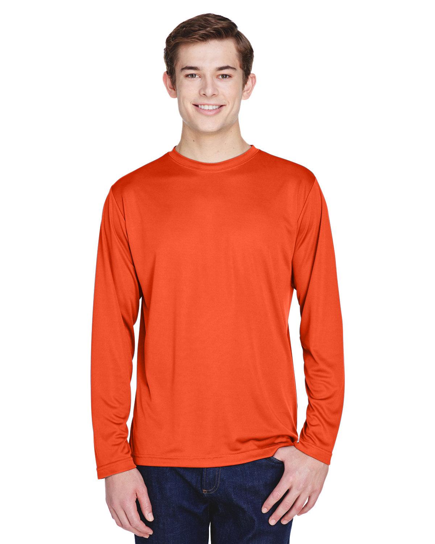 Team 365 Men's Zone Performance Long-Sleeve T-Shirt SPORT ORANGE