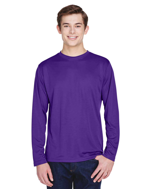 Team 365 Men's Zone Performance Long-Sleeve T-Shirt SPORT PURPLE
