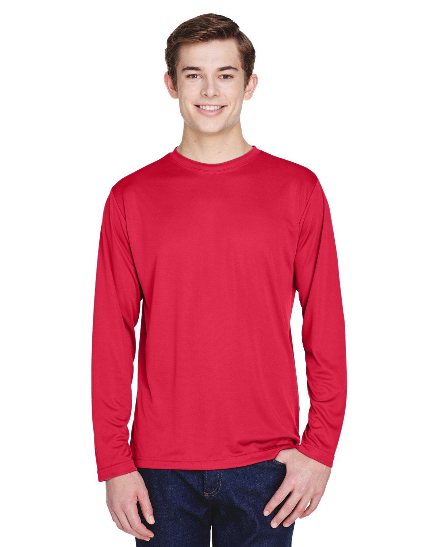 Team 365 Men's Zone Performance Long-Sleeve T-Shirt SPORT RED