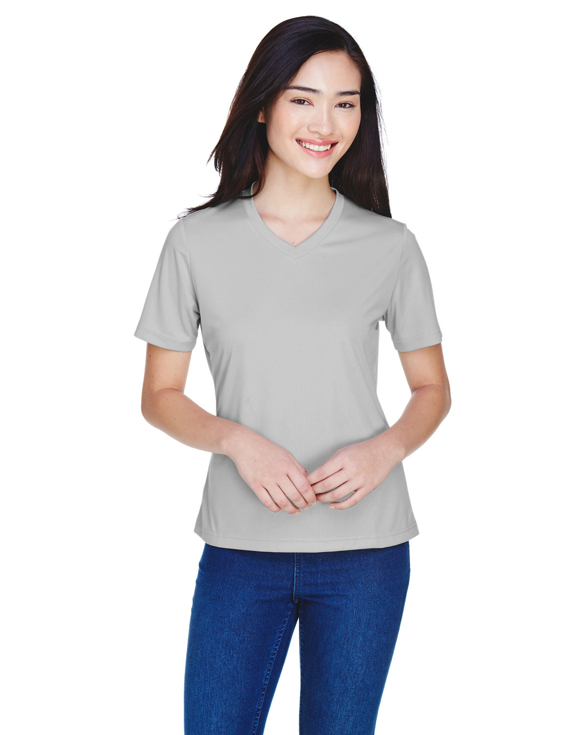 Team 365 Ladies' Zone Performance T-Shirt SPORT SILVER