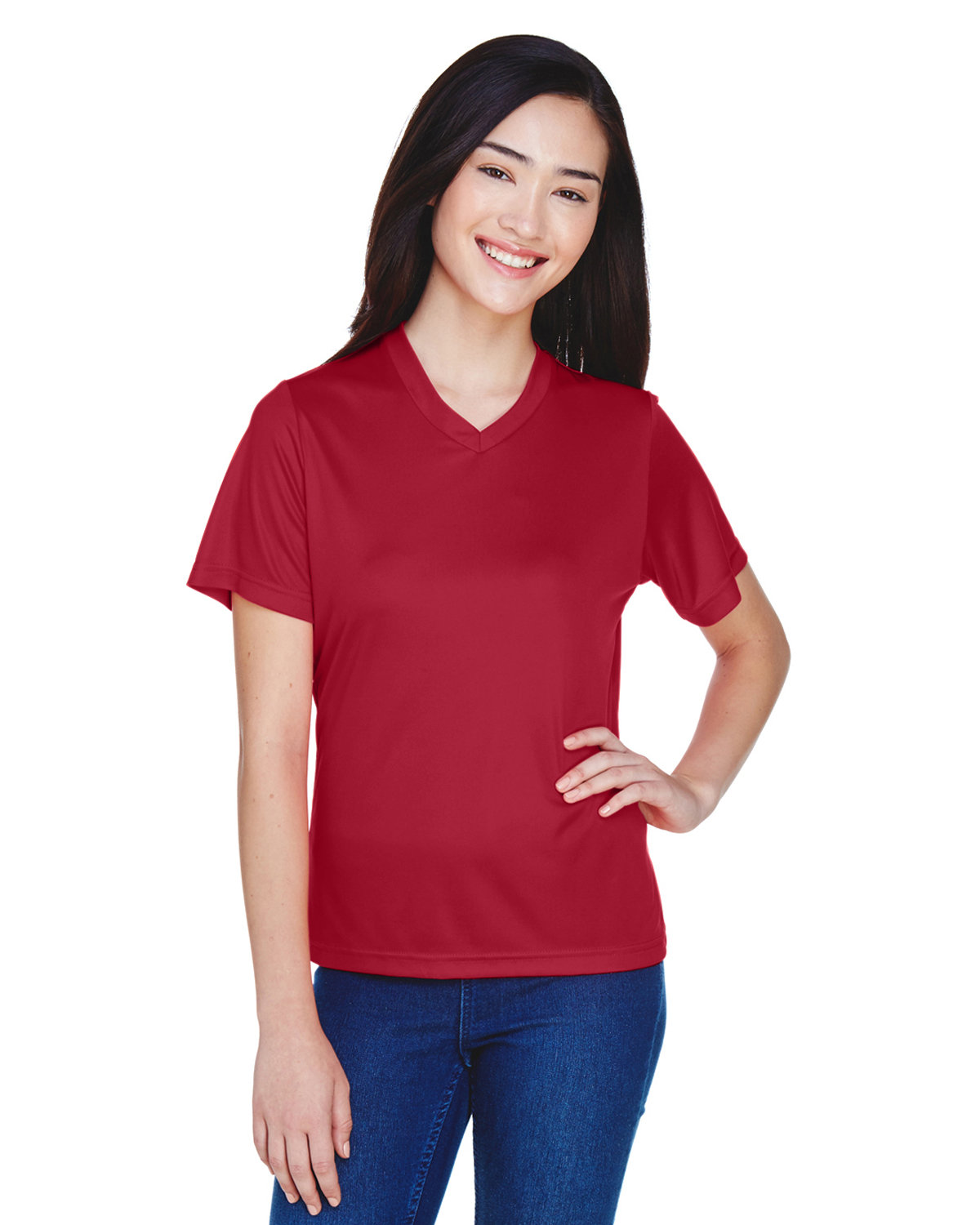 Team 365 Ladies' Zone Performance T-Shirt SPORT SCRLET RED