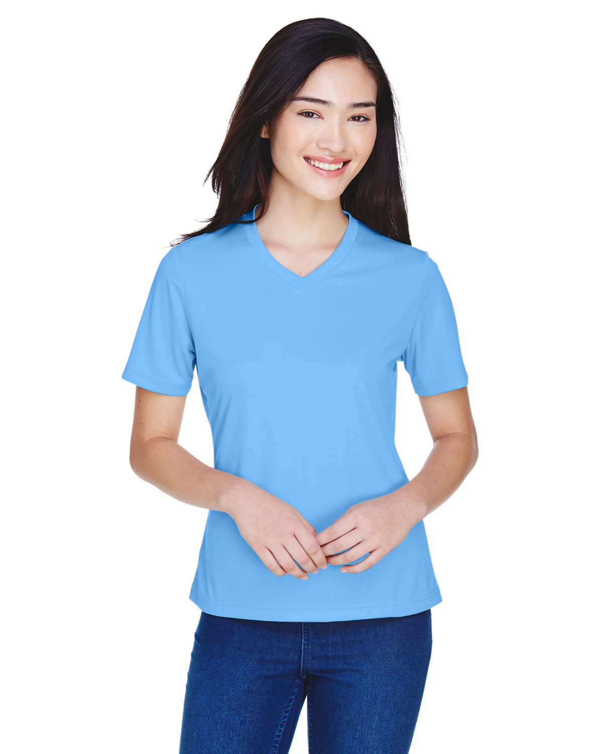 Team 365 Ladies' Zone Performance T-Shirt SPORT LIGHT BLUE