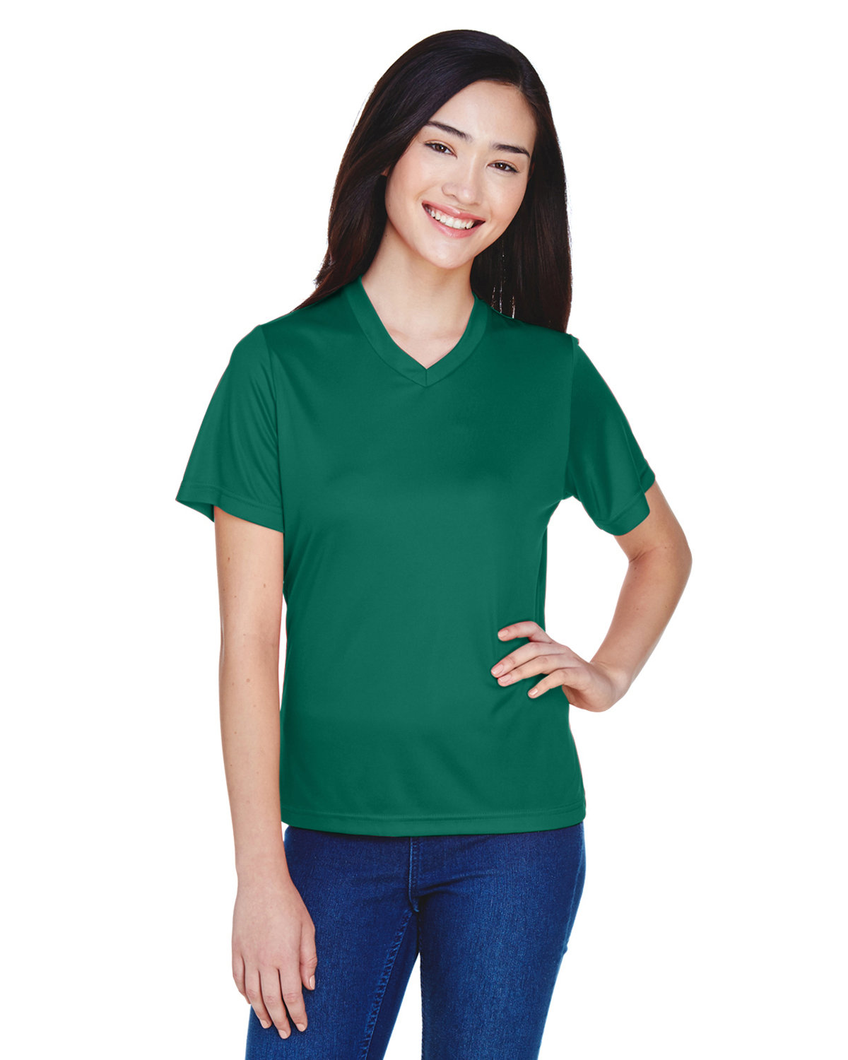 Team 365 Ladies' Zone Performance T-Shirt SPORT FOREST