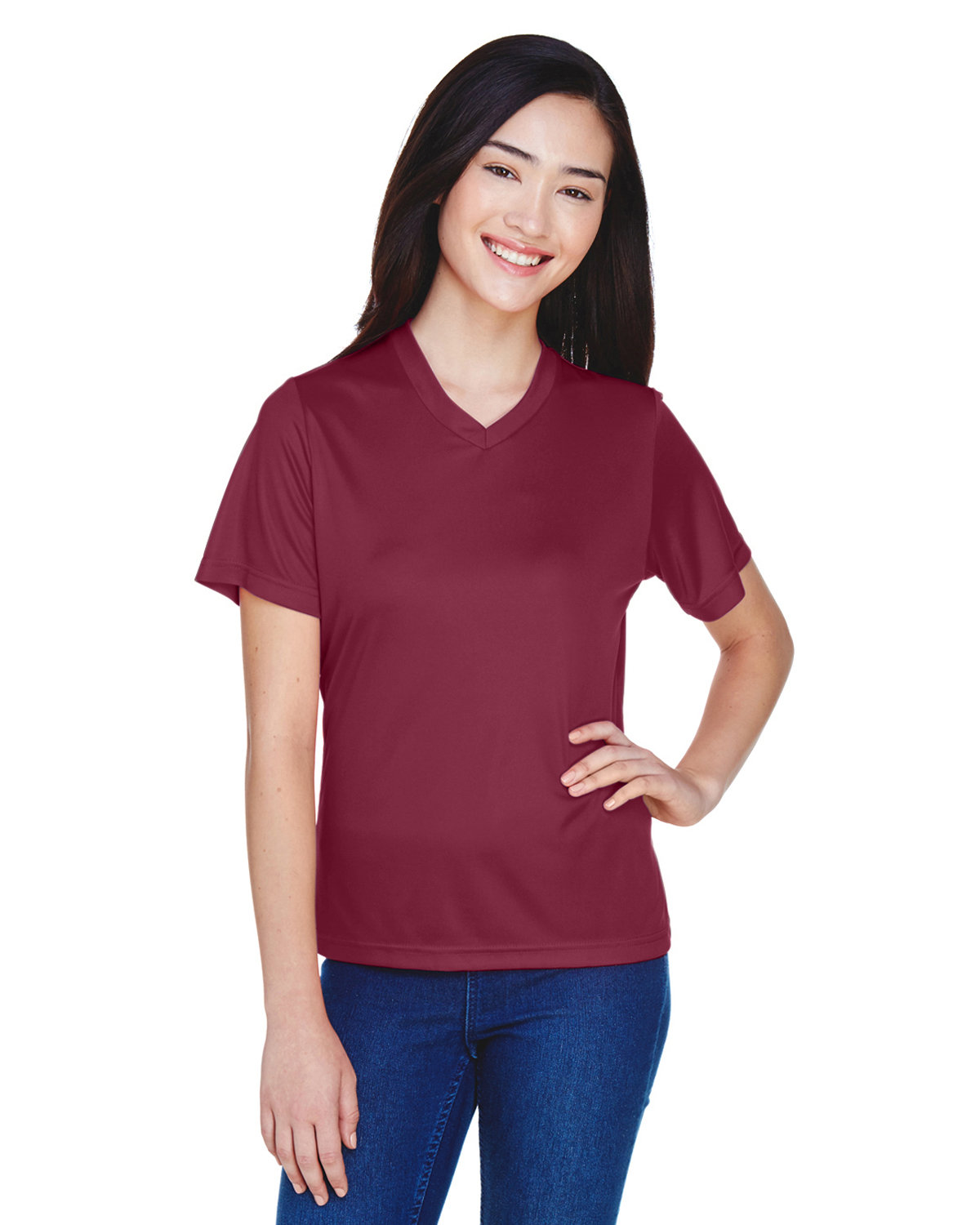 Team 365 Ladies' Zone Performance T-Shirt SPORT MAROON