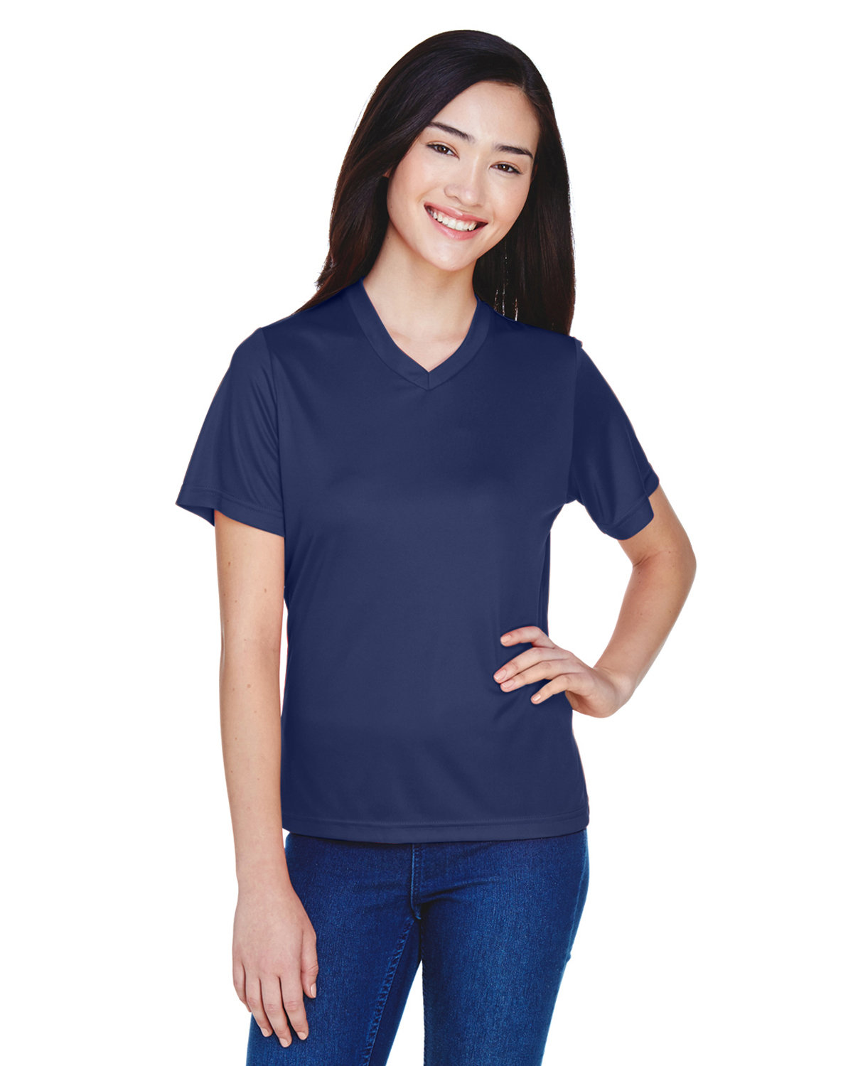 Team 365 Ladies' Zone Performance T-Shirt SPORT DARK NAVY