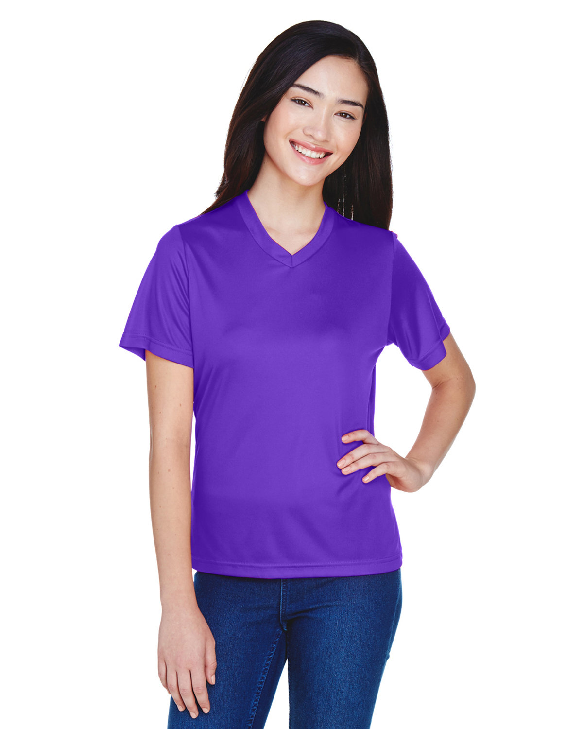 Team 365 Ladies' Zone Performance T-Shirt SPORT PURPLE